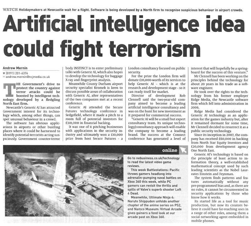 Artificial intelligence idea could fight terrorism